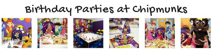 chipmunks birthday parties
