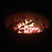Fire-pit-camping-Moreton-Bay